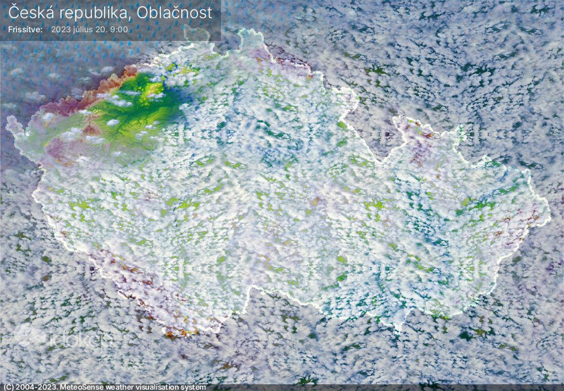 Oblačnost nad ČR