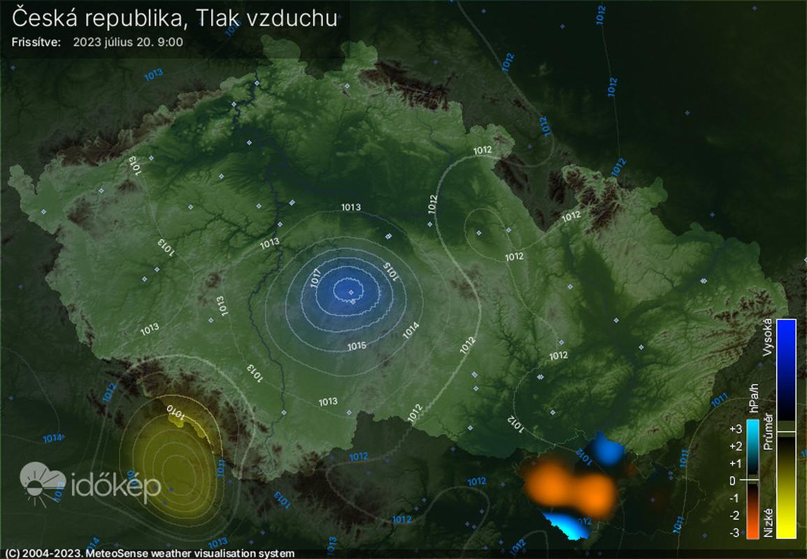 Tlak vzduchu na území ČR