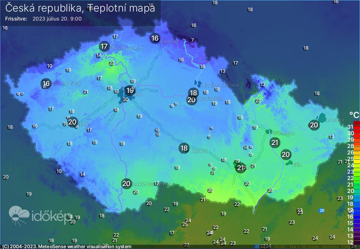 Teplota ČR Meteopress