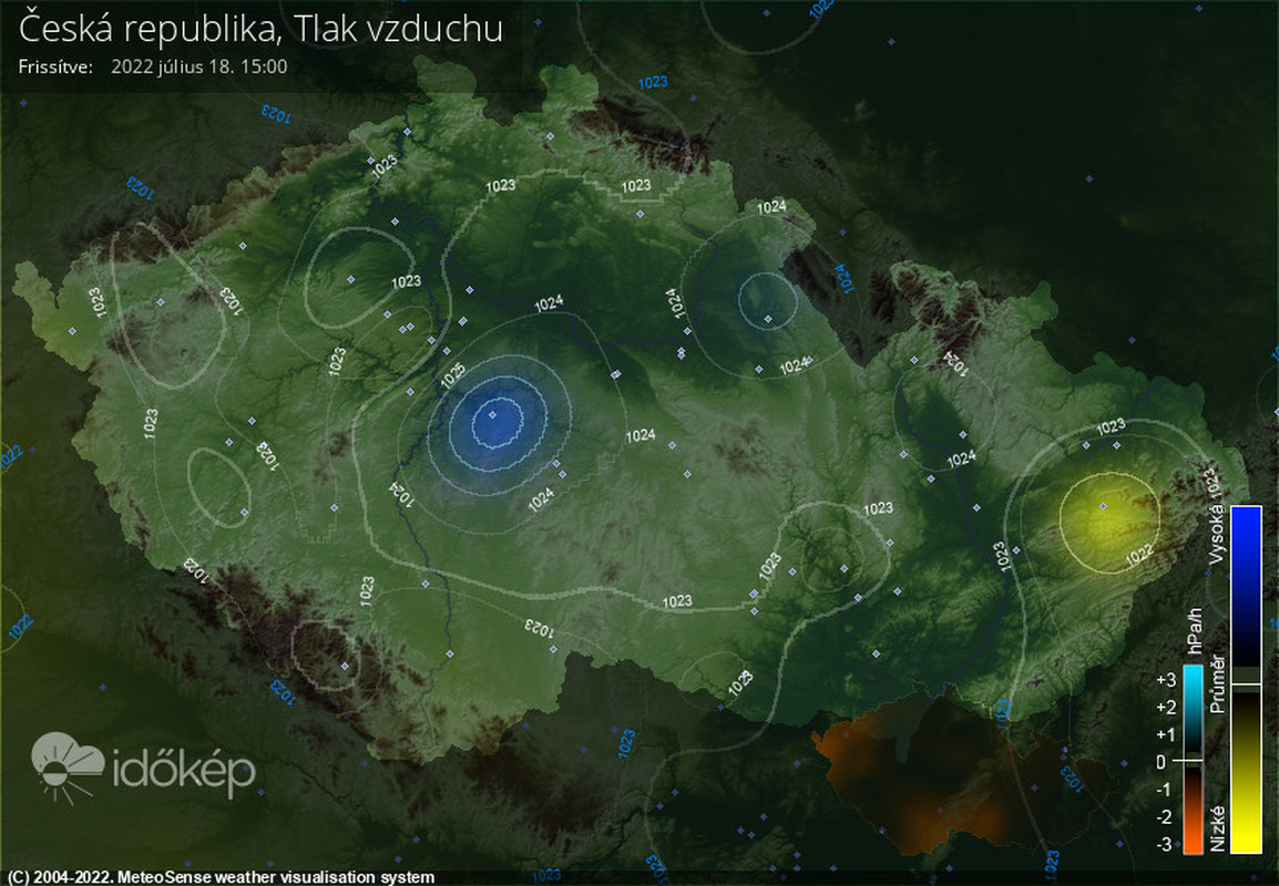 Tlak ČR Meteopress